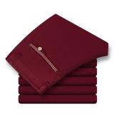 Harga Hemat Celana Panjang Pria Katun Lurus Membentuk Tubuh 889 Merah Tua