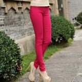 Review Terbaik Kapas Slim Lee Jeans Warna Permen Celana Perempuan Legging Merah Mawar Warna Baju Wanita Celana Wanita