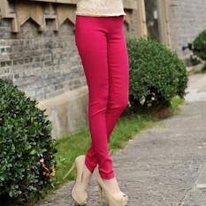 Jual Kapas Slim Lee Jeans Warna Permen Celana Perempuan Legging Merah Mawar Warna Baju Wanita Celana Wanita Oem Ori