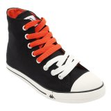 Kappa K11Bfc917 Simple Hi Sneakers Black Off White Orange Kappa Diskon