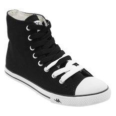 Harga Kappa K11Bfc917 Simple Hi Sneakers Black White Terbaru