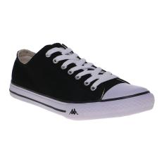 Jual Kappa K11Bfc918 Simple Low Sneakers Black White Online Indonesia