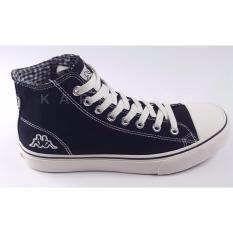 Kappa Orion Hi Cut Canvas Unisex Sneakers-Black