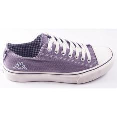 Kappa Rigel A Ox Cut Canvas Sneakers Shoes Grey Kappa Diskon 30