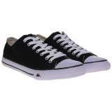 Toko Kappa Simple Low Sneaker Shoes Black White Indonesia