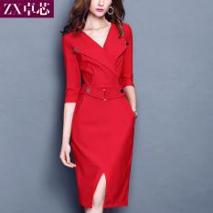 Review Toko Dress Slim Wanita Gaya Korea Hitam Hitam