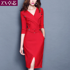 Beli Dress Slim Wanita Gaya Korea Hitam Hitam Yang Bagus