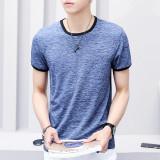 Beli Karakter Sutra Es Muda Yard Besar Keelastikan T Shirt Pria Leher Bulat Lengan Pendek T Shirt Light Blue Warna Sutra Murah Tiongkok
