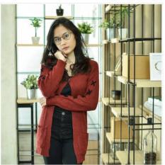 Kardigan Fashion Wanita - Cross Cardie - Rajutan terbaik - Trend Fashion terkini