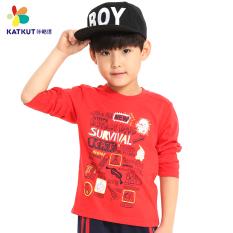 Jual Kartun Katun Anak Laki Laki Lengan Panjang T Shirt Bottoming Kemeja Merah Tua 1533151203 Branded Murah