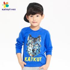 Beli Kartun Katun Anak Laki Laki Lengan Panjang T Shirt Bottoming Kemeja Warna Biru 1533151217 Oem Online