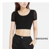 Harga Kasa Perempuan Lapisan Ganda T Shirt Baju Dalaman Sebelum Ganda Setelah Tunggal Hitam Lengan Pendek Baju Wanita Baju Atasan Kemeja Wanita Yang Murah Dan Bagus