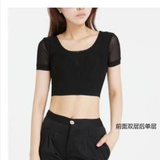 Cara Beli Kasa Perempuan Lapisan Ganda T Shirt Baju Dalaman Sebelum Ganda Setelah Tunggal Hitam Lengan Pendek Baju Wanita Baju Atasan Kemeja Wanita