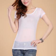 Kasa Transparan Musim Semi Dan Musim Panas Baru Bottoming Kemeja (Putih) (Putih) baju wanita baju atasan kemeja wanita