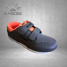 Kasogi Focus Kid Abu Tua Orange-Sepatu Casual Anak Laki laki-Sepatu Casual Perempuan