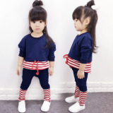 Jual Beli Kasual Anak Anak Katun Lengan Panjang Gadis Jas Paket Penting