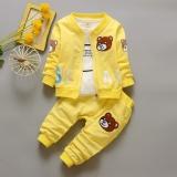 Jual Kasual Anak Laki Laki Tiga Potong Dilengkapi Bayi Ritsleting Jaket Anak Laki Laki Beruang Tiga Potong Kuning Termurah