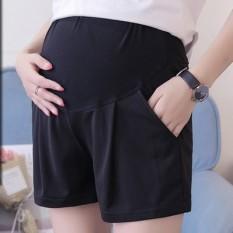 Celana Penyangga Perut Kasual Pakaian Luar Celana Musim Panas Modis Anak (022 Model Sederhana-Hitam)