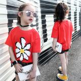 Diskon Kasual Baru Model Musim Panas Anak Anak Lengan Pendek T Shirt Merah Branded