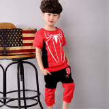 Promo Toko Kasual Bayi Olahraga Anak Laki Laki Dua Potong Dipasang T Shirt Hitam