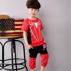 Harga Kasual Bayi Olahraga Anak Laki Laki Dua Potong Dipasang T Shirt Hitam Oem Baru