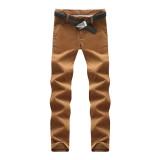 Beli Kasual Celana Corduroy Slim Kaki Laki Laki Celana Panjang Korduroi Celana Panjang Celana Panjang Khaki Nyicil