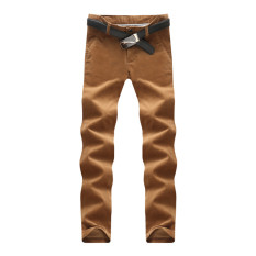 Spesifikasi Kasual Celana Corduroy Slim Kaki Laki Laki Celana Panjang Korduroi Celana Panjang Celana Panjang Khaki Lengkap