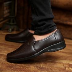 Harga Kasual Kulit Dapur Bekerja Sepatu Pria Tergelincir Sepatu Pria Kuda Merah Wang 503 Coklat Oem Asli