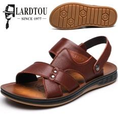 Jual Kasual Kulit Laki Laki Asli Sandal Pantai Dan Sandal Pria Sandal Coklat Di Tiongkok