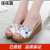 Diskon Kasual Kulit Yang Berat Itu Perempuan Sandal Bertumit Tinggi Dan Sandal Sepatu Ibu Timbul Lan Impor Pu Oem Di Tiongkok