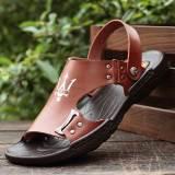 Spesifikasi Kasual Laki Laki Muda Yang Baru Sandal Dan Sandal Pria Sandal 1586 Coklat Murah
