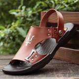 Diskon Kasual Laki Laki Muda Yang Baru Sandal Dan Sandal Pria Sandal 1586 Coklat Tiongkok