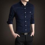 Harga Kasual Lengan Panjang Bagian Tipis Slim Korea Fashion Style Kemeja Kemeja Pria 280 Kaki Biru Baju Atasan Kaos Pria Kemeja Pria Oem Online