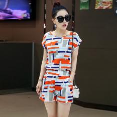 Toko Setelan Olahraga Wanita 2 Set Celana Pendek Baju Lengan Pendek 1030 Merah Terlengkap Tiongkok