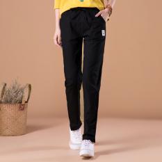 Celana Panjang Kasual Sepatu Linen Celana Harem Korea Fashion Style Putih