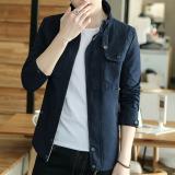 Cara Beli Kasual Musim Semi Dan Musim Gugur Bagian Tipis Pada Pria Jaket Jaket Denim Biru