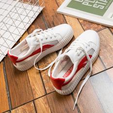 Harga Kasual Perempuan Berongga Mahasiswa Flat Shoes Sepatu Sepatu Putih Putih Dan Merah Sepatu Wanita Sepatu Sport Sepatu Sneakers Wanita Beier Baru