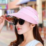 Spesifikasi Xiangguiyigui Topi Matahari Wanita Dapat Dilipat Versi Korea Mutiara Merah Muda Mutiara Merah Muda Yang Bagus