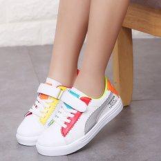 Kasual Pijakan Empuk Gadis Kets Putih Children Sepatu Sneakers (Berwarna Warna-warni)