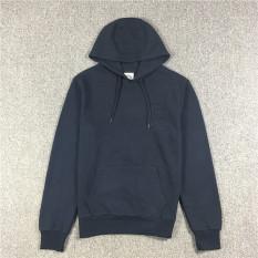Harga Kasual Pria Hoodie Jaket Lengan Panjang Biru Tua Baju Atasan Sweter Pria Online