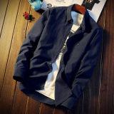 Diskon Kasual Pria Lengan Panjang Kemeja Putih Kemeja 296 Model Biru Laut Warna Branded