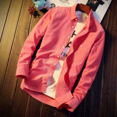 Jual Kasual Pria Lengan Panjang Kemeja Putih Kemeja 296 Model Merah Warna Baju Atasan Kaos Pria Kemeja Pria Di Bawah Harga