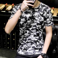Jual Kasual Pria Musim Panas Pada Kemeja Kecil T Shirt Kamuflase Warna Abu Abu Tiongkok