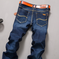 Beli Barang Kasual Pria Tebal Slim Panjang Celana Tambah Beludru Denim Celana 835 Model Konvensional Celana Pria Celana Panjang Pria Celana Jeans Online