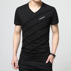 Spesifikasi T Shirt Musim Panas Baru Baju Dalaman Pria Kasual H601 Hitam Baju Atasan Kaos Pria Kemeja Pria Terbaik