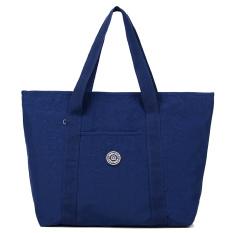 Tas Bahu Dengan Satu Tali Tas Kanvas Belanja Tas Kasual Nilon Tahan Air (Biru tua) Tas Tas Wanita tas selempang wanita