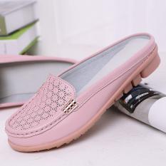 Toko Kasual Ukuran Besar Non Slip Sepatu Wanita Sandal Dan Sandal 277 Pesona Merah Muda Benang Kosong Sepatu Wanita Sandal Wanita Online Tiongkok