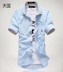 Harga Kasual Warna Solid Remaja Siswa Kemeja Kemeja Hitam Baju Atasan Kaos Pria Kemeja Pria Other Ori