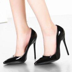 Kasut Jenama Wanita Heels Tinggi Pam Kasut Tumit Tinggi Merah 12 Cm Wanita Kasut Tumit Tinggi Kasut Perkahwinan Pam Hitam Kasut Bogel Heels (hitam)