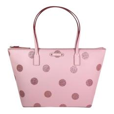 Kate Spade Hani Haven Lane Pink Polka SMALL WKRU4119 Authentic Original USA Store